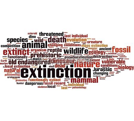 extinction wort wolke