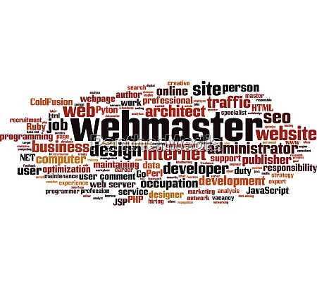 webmaster wortwolke