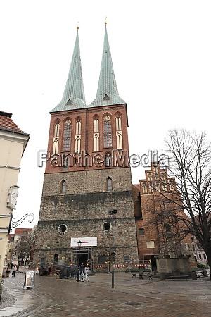 deutschland berlin 03032019 nikolauskirche in berlin