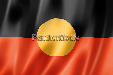 australische aborigines ethnische flagge 3d illustration