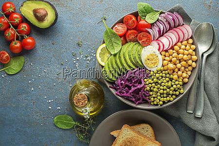 mittagessen vegane schuessel