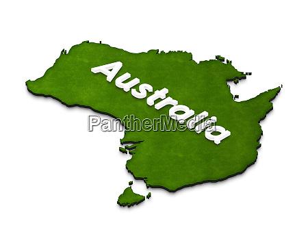karte von australien 3d isometrische darstellung