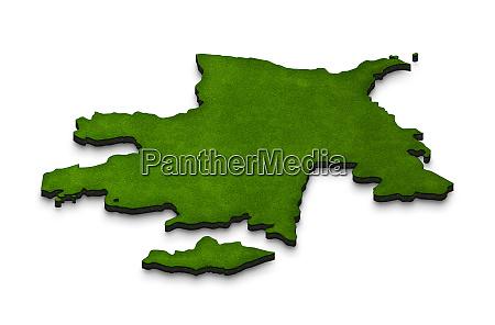 karte von aserbaidschan 3d isometrische perspektivdarstellung