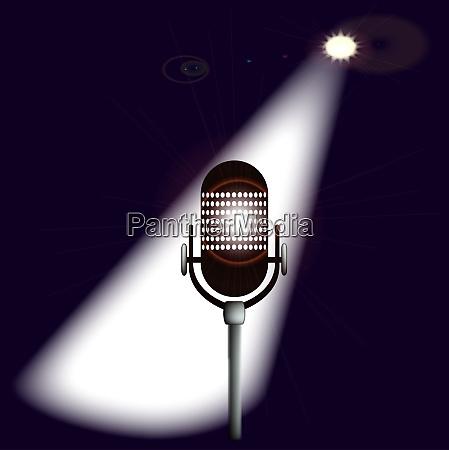 ein mikrofon bereit auf der buehne