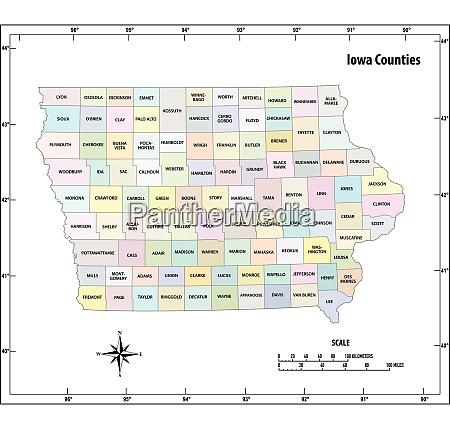 iowa state skizzieren administrative und politische