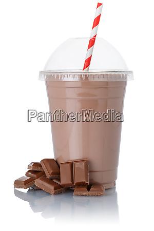 milchshake schokolade milchshake in einer tasse