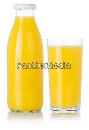 orangenfruchtsaft smoothie drink in einer flasche