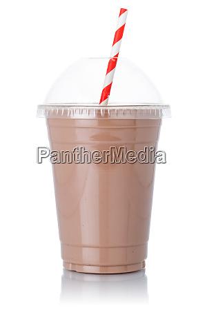 schokolade milch shake milchshake stroh in