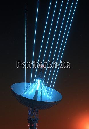 riesensatellitendishe fuer signal von galaxy