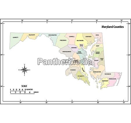 maryland state skizzieren administrative und politische