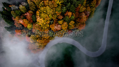 aerial view of fall in entlebuch