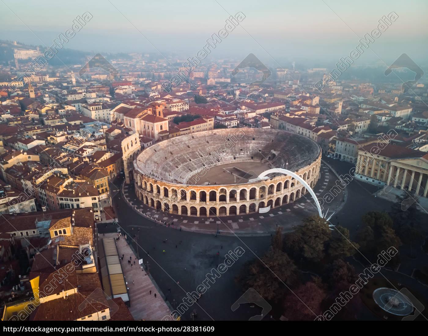 luftaufnahme, der, arena, von, verona, italien. - 28381609
