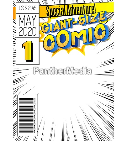 comic book cover with simple explosion