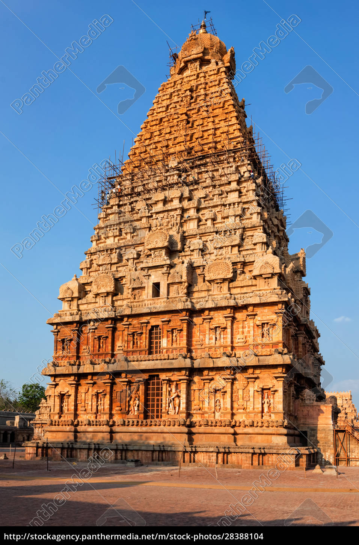 brihadishwarar, tempelturm, (vimana)., thanjavur, tamil, nadu, indien - 28388104