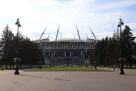stadion sankt petersburg hauptarena blick von