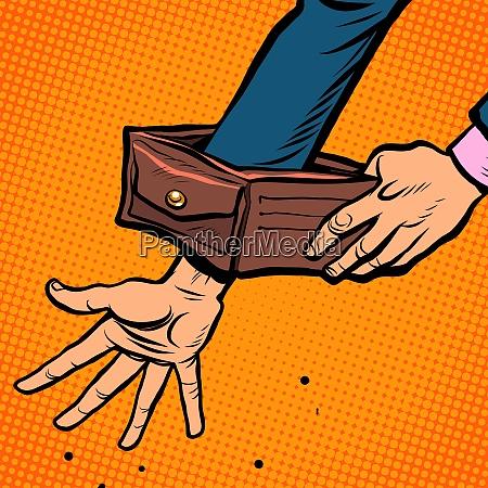 konkurs geschaeftsmann leere brieftasche wirtschaftskrise