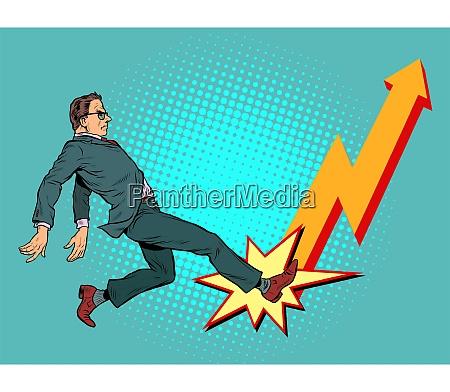 geschaeftsmann chart nach oben erfolg wirtschaftswachstum