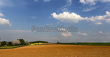 laendliche landschaft panoramablick auf die
