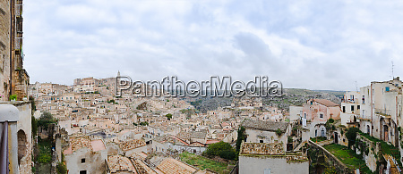 panorama of matera medieval town center