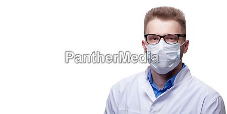 young doctor against new coronavirus 2019