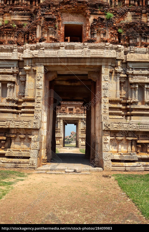 gate, in, gopuram., ruins, in, hampi, - 28409983