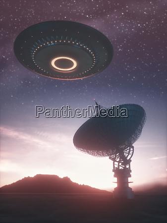 riesensatelliten dishe signal und ufo