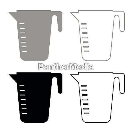 messkapazitaet cup icon set grau schwarz