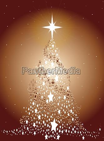 metallischer weihnachtsbaum