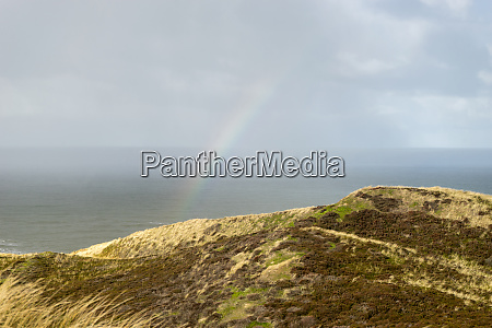north sea with rainbow
