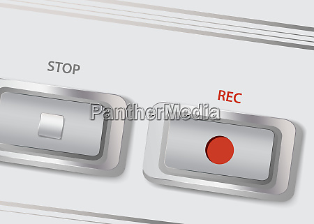 buttons recording and stop on a