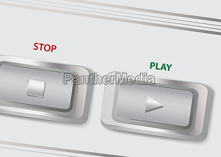 buttons play and stop on a
