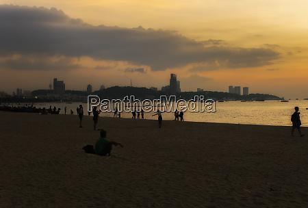 a colorful sundown above the beach