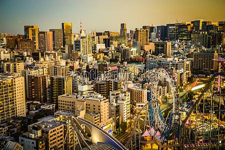 sonnenuntergang vom bunkyo civic center tokio