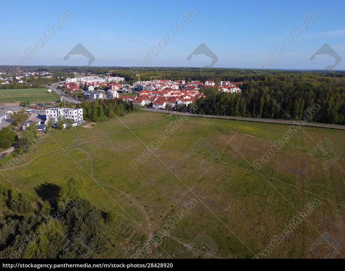 new, estate, blocks, of, flats, surrounded - 28428920