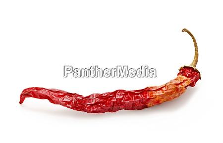 getrockneter roter heisser chili