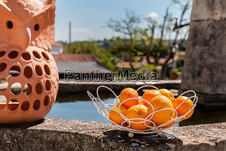 korb von algarve orange in portugal