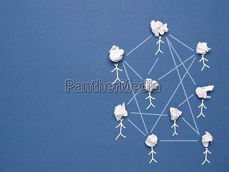 abstrakte teamarbeit netzwerk und community konzept