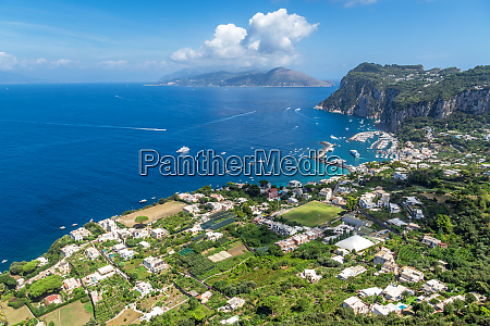 capri island in a beautiful summer