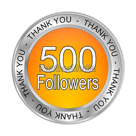 orange 500 followers thank you