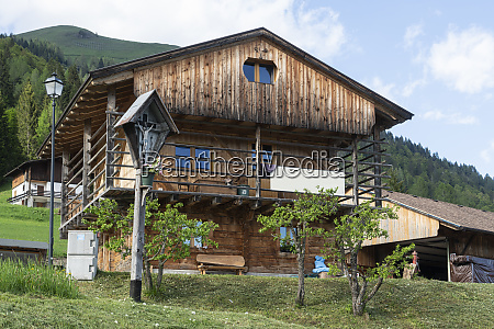 wooden house in sauris di sopra