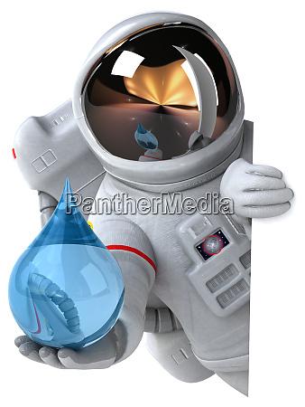 spass astronaut 3d illustration