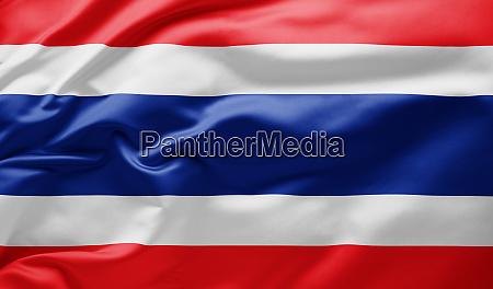 schwenkende nationalflagge von thailand