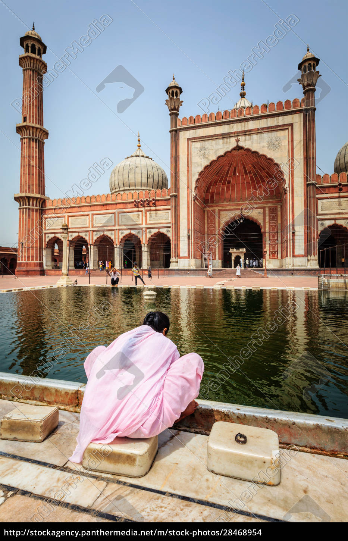 frau, in, der, jama, masjid, moschee, old - 28468954