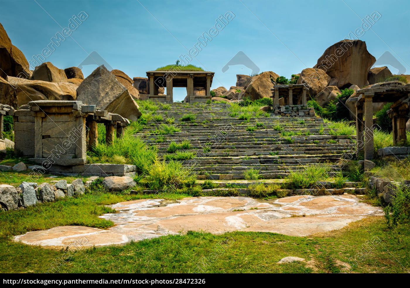 ancient, ruins, in, hampi, , india - 28472326