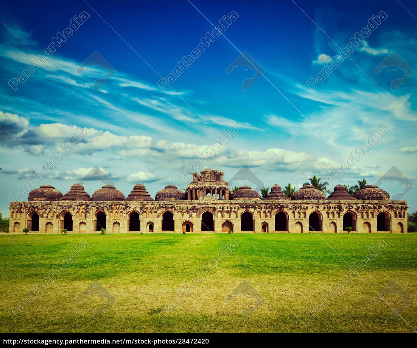 antike, ruinen, von, elefantenställen - 28472420