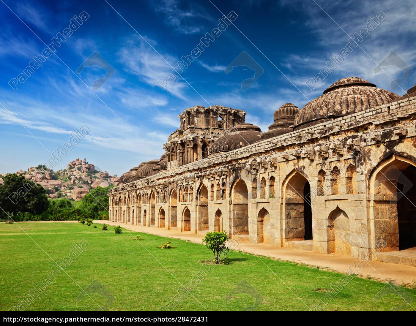 antike, ruinen, von, elefantenställen - 28472431
