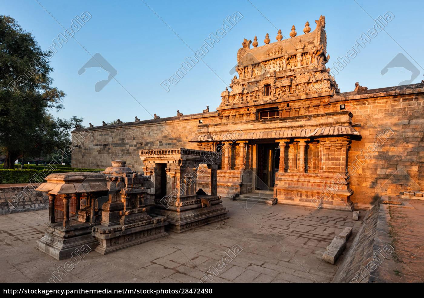 eingang, gopura, (turm), des, airavatesvara, tempels, darasuram - 28472490