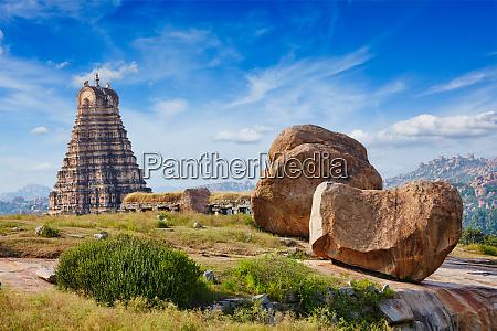 virupaksha, tempel., hampi, karnataka, indien - 28472344