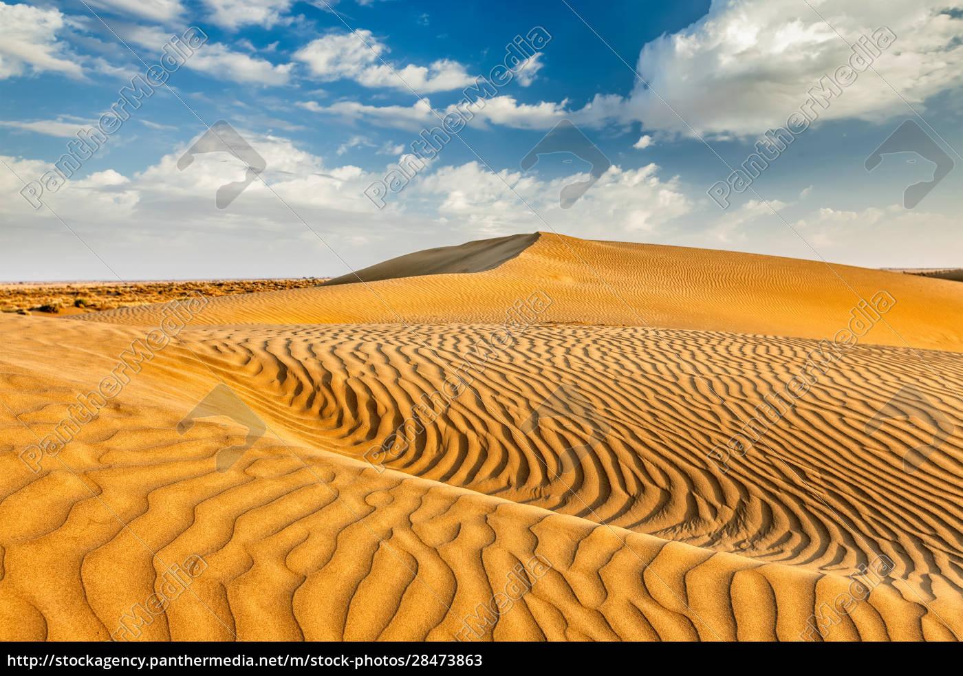 sanddünen, in, der, wüste - 28473863