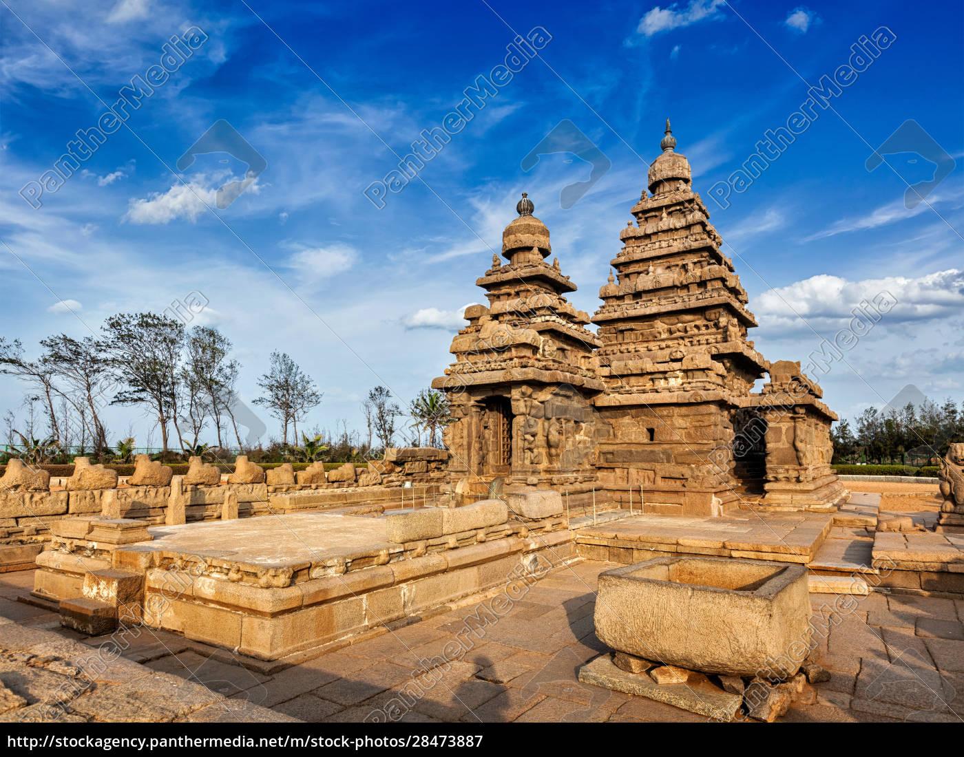 ufertempel, -, weltkulturerbe, in, mahabalipuram, tamil, nad - 28473887